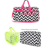 Darling!! Chevron Weekender, School, Overnight Duffle Bag. Very Trendy! Big Seller!!