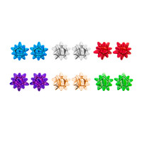 Colorful Gift Bow Stud Earrings Set of 6