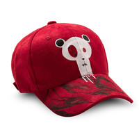 Posh Custom Suede Dad Hat by Drippy in Red