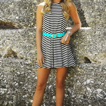 Eyes On Fire Dress: Black/White