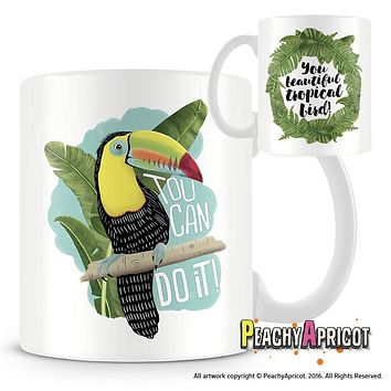 Toucan Do it, Beautiful Tropical Bird mug