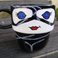 Handpainted Catwoman Stackable Mug by TheCornerGeekery on Etsy