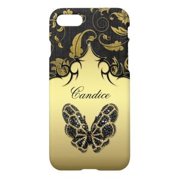Jeweled Butterfly Damask iPhone 8/7 Case
