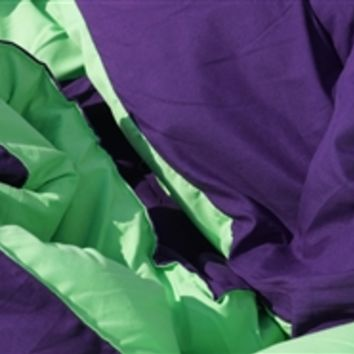 Downtown Purple/Lime Green Reversible College Comforter - Twin XL