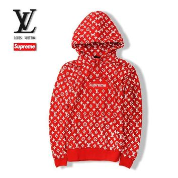 ABSPBEST Supreme x Louis Vuitton Hoodie-Red