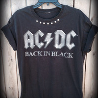 Extra soft ACDC  studded t shirt ladies size large
