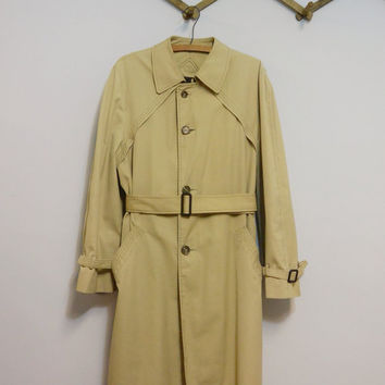 Vintage 70s Mens Trench Coat by Gleneagles The Activist Size 38