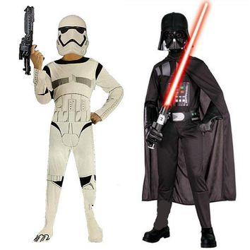2017 New Child Boy Deluxe Star Wars The Force Awakens Storm Troopers Cosplay Fancy Dress Kids Halloween Carnival Party Costume
