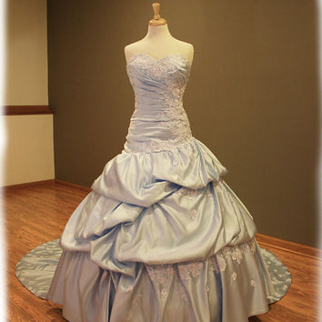 Cinderella Inspired Blue Wedding Dress Custom Made to by AvailCo