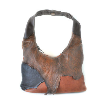 Fern Woods Leather Purse . Leather Shoulder Bag . Leather Hand Bag