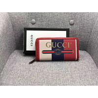 GUCCI 2018 NEW STYLE LEATHER ZIPPER WALLET