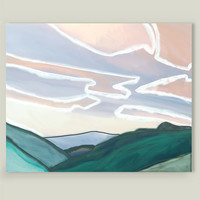 Landscape in soft pastel colors Art Print by zenazero on BoomBoomPrints