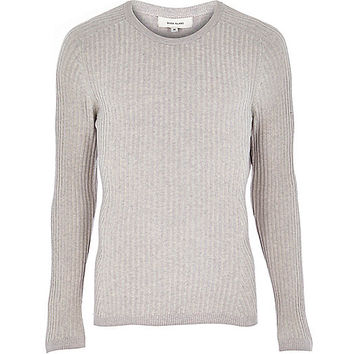 River Island Menspink Ribbed Sweater From River Island