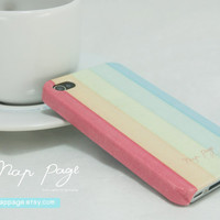 Iphone 4, Blackberry mobile Case handmade: soft colorful background pattern