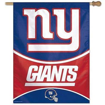 "NEW YORK GIANTS 27""X37"" BANNER FLAG BRAND NEW WINCRAFT"