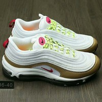 NIKE AIR MAX 97 Fashion Running Sneakers Sport Shoes Pink G-HAOXIE-ADXJ