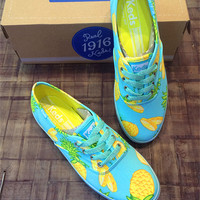 Pineapple Pattern Summer Fashion Style Shoes for Women