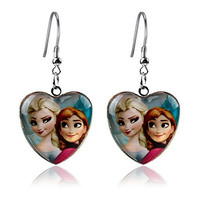 Cute Queen Elsa and Princess Anna Frozen Earrings