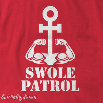 Swole Patrol Funny Workout Tank - Bicep Anchor Lifting Tanks Men's Women's Gym Apparel