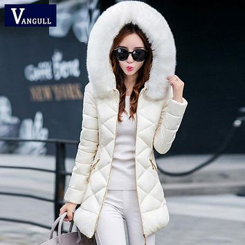 Winter jacket Women Hot 2017 New lady Park Long Female Jacket With Full Collar Thick Coat High Quality Warm Woman Winter Outwear