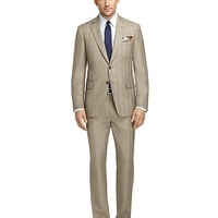 Men's Madison Fit Brown Plaid with Blue and Gold Deco Suit
