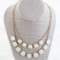 Hannah White Statement Necklace