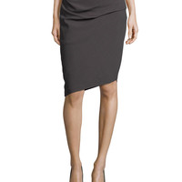 Asymmetric Pencil Skirt, Lead, Size: