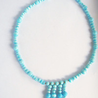 Mar de azul......sea of blue necklace and earring set