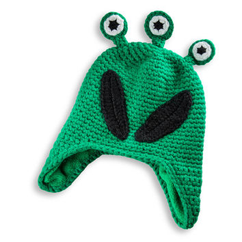 Kids Hat Alien Woolie One Size