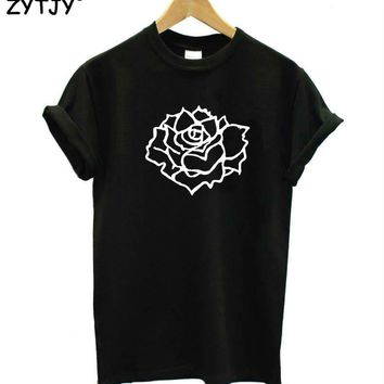 rose flower Print Women tshirt Cotton Casual Funny t shirt For Lady Top Tee Hipster Tumblr Drop Ship Z-969