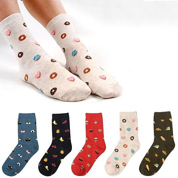 Donuts, Fruits, Ice Cream, Sandwich, Sushi - Socks Funny Crazy Cool Novelty Cute Fun Funky Colorful