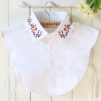 cotton white lace collars pearl blouse denim girl children fake collar shirt women detachable detachable lapel false collar