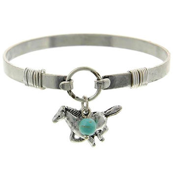 Equestrian Turquoise Charm Bracelet