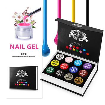 Luxury Nails Gel Polish 12 Colors Professional Set Meal Multicoloured Painting UV Gel