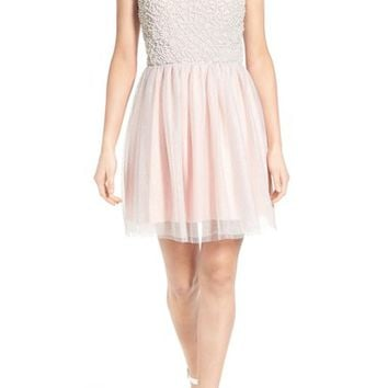 Secret Charm 'Gwen' Embellished Skater Dress | Nordstrom