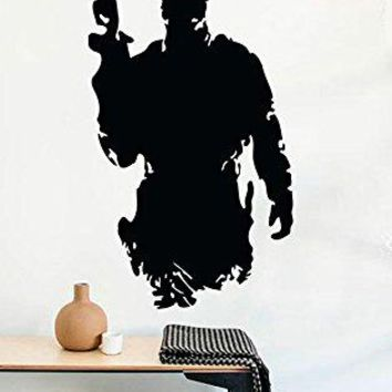 Wall Decals Military Army Silhouette Soldier Call of Duty Decor Stickers Vinyl