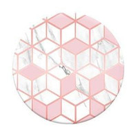 Pink Sugar Cubes Geometric socket style Round Pop Phone Holder