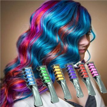 Women Crayons Hair Color Mascara /Chalk With Comb Applicator