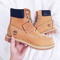 Timberland street fashion men and women classic high-top outdoor Martin boots shoes