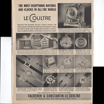 Vacheron & Constantin - Le Coultre The Most Exceptional Watches And Clocks In All The World Generation After Generation Since 1785 1950 Vintage Antique Advertisement