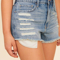 Girls High-Rise Denim Vintage Shorts | Girls Featured 40%-60% Off | HollisterCo.com