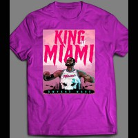 THE KING OF MIAMI DWYANE WADE CUSTOM BASKETBALL INSPIRED T-SHIRT