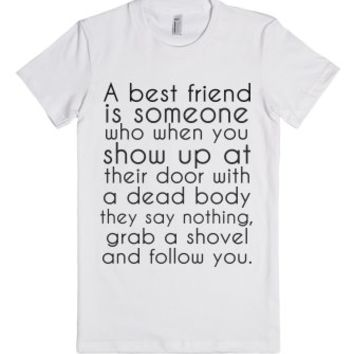 my bestfriend-Female White T-Shirt