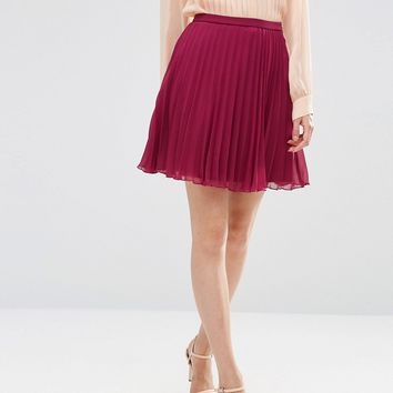 ASOS Pleated Mini Skirt at asos.com