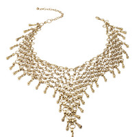 FOREVER 21 Linked Chain Necklace Burnished Gold One