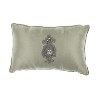 Court of Versailles  Campagne Beaded Metallic Decorative Pillow