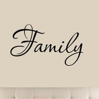 Family Wall Quotes Decals Stickers Home Decor Hanging Living Room Sticker Wal...