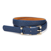 Blue Snakeskin Belt