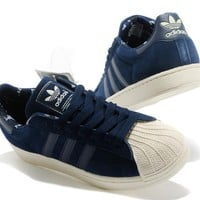"""Adidas"" Fashion Shell-toe Flats Sneakers Sport Shell-toe Shoes Navy blue"
