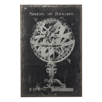 Sterling ''Armillary Sphere'' Canvas Wall Art (Black White)